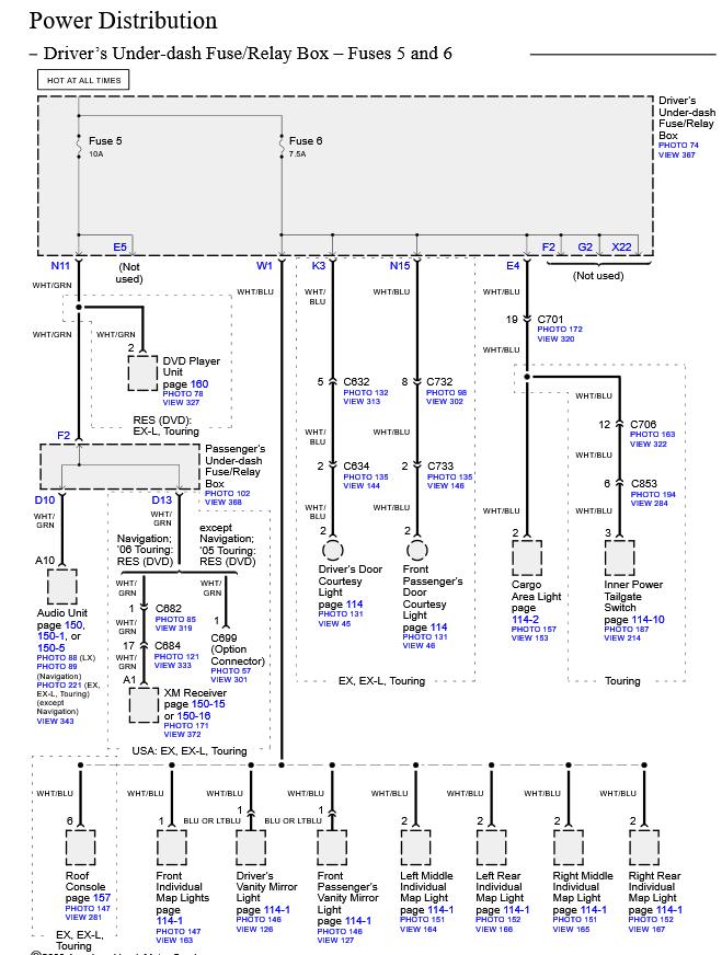 2010 honda odyssey wiring diagram backup acc  description