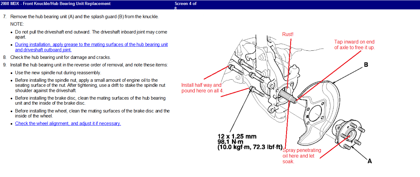 I am trying to change front wheel bearing 2008 acura mdx 1a408cc7 5b5a 4f1b 91c0 da5a2d04b6072008mdxbearinghubg sciox Gallery