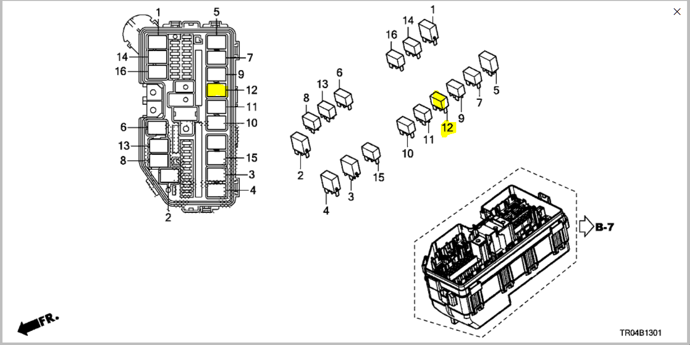 Im Tryin To Replace A Compressor Clutch Relay In The Fuse Box Under The Hood Of A 2012 Honda