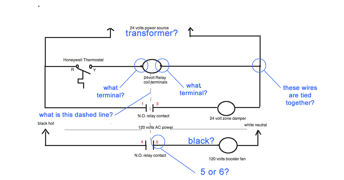 Wiring Diagram Duct Booster Fan : I have a v duct booster fan thermostat azt