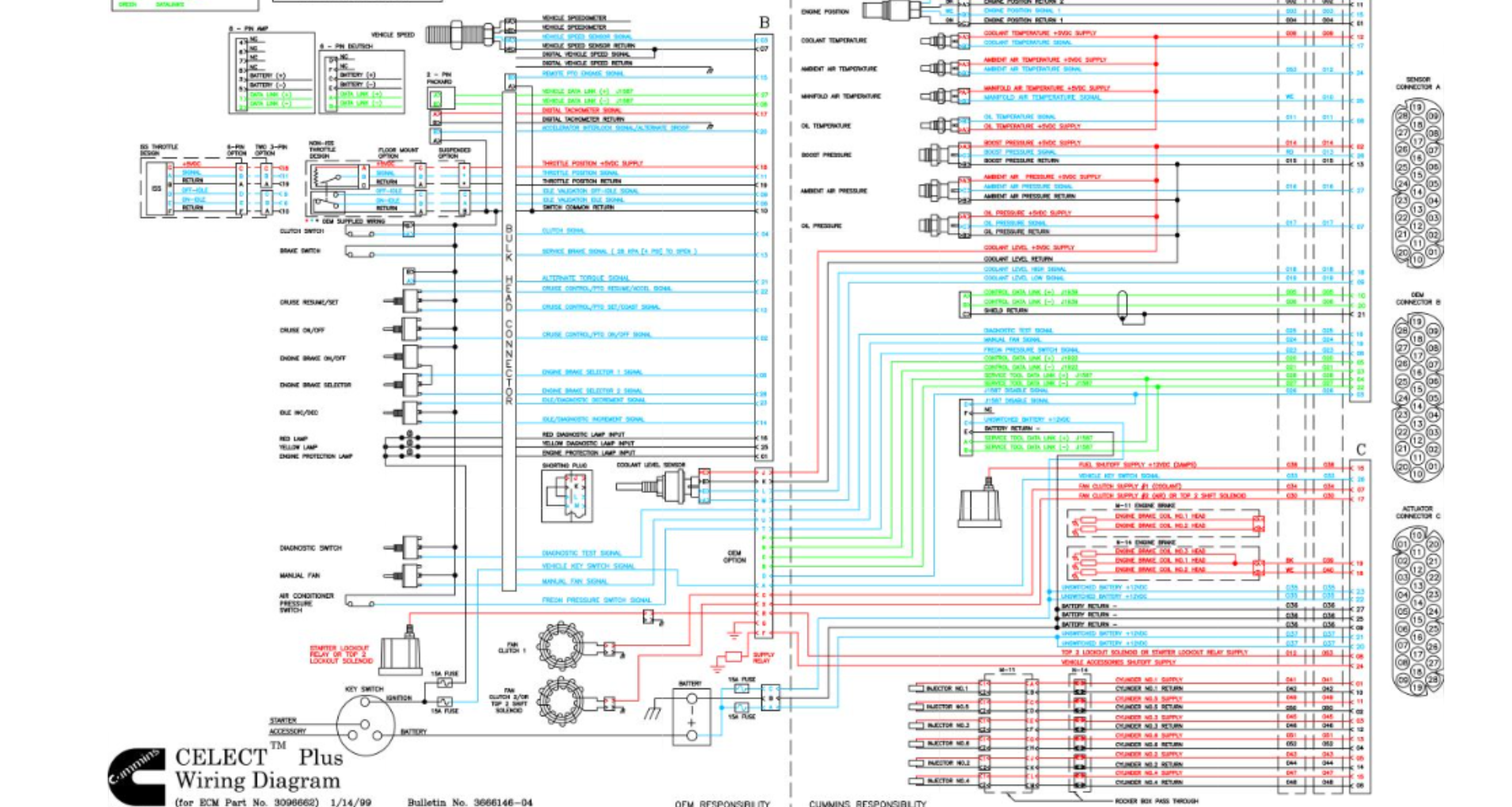 cummins n14 celect plus wiring diagram in need a ecu pin out for cummins n14 select plus celect plus wiring diagram