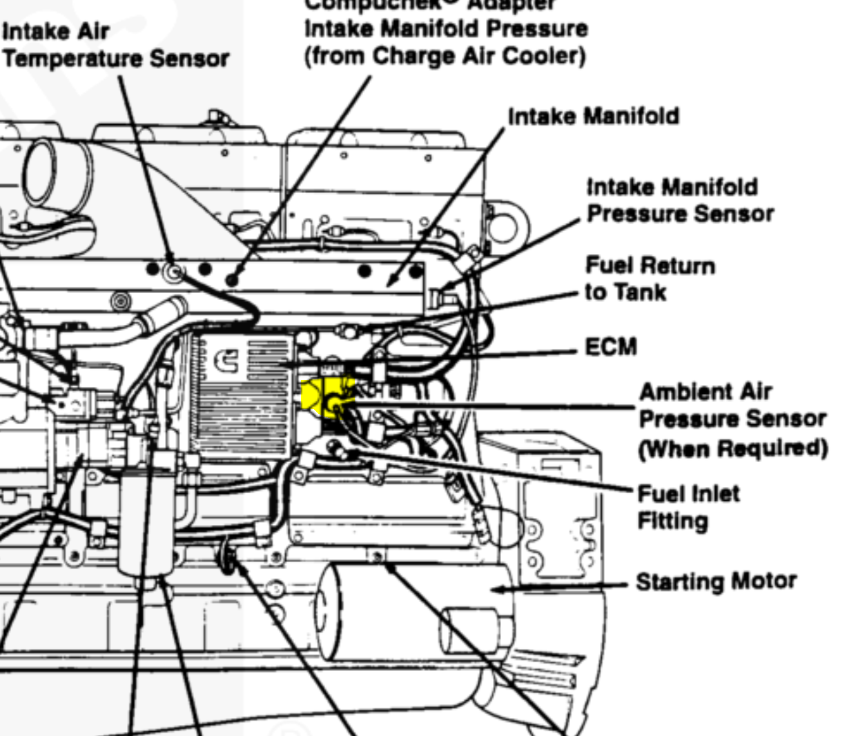manifold air pressure sensor location