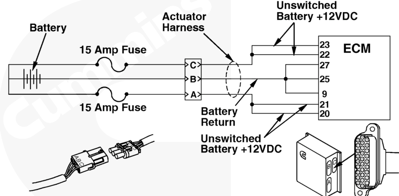 I have a 1992 freightliner fld120 with a n14 celect mins. Im ... N Celect Ecm Wiring Diagram Unswitched Battery Connection on