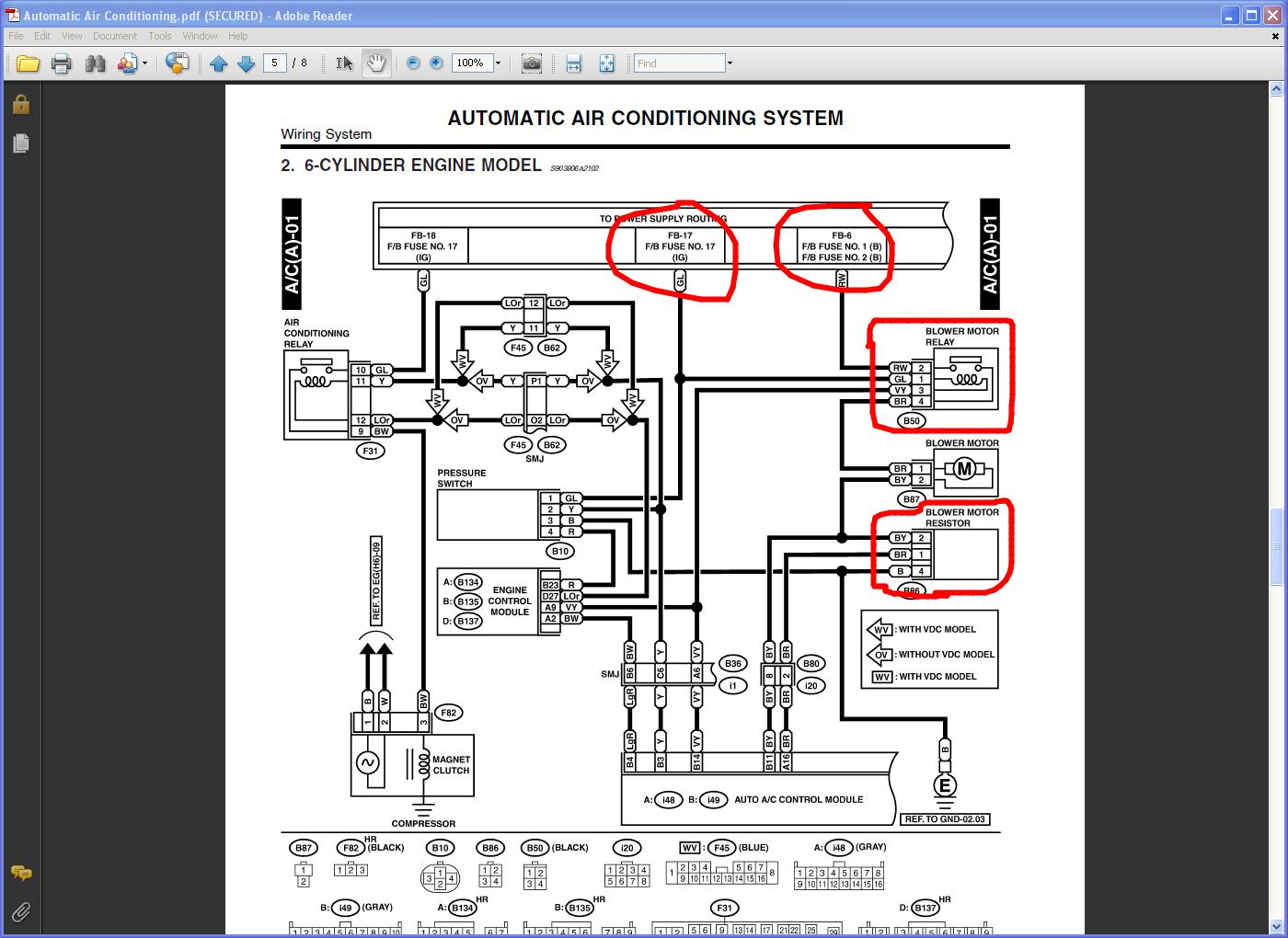 Subaru Outback Hvac Diagram Download Wiring Diagrams 2001 Forester Fuse I Have A 2004 H6 With Auto Climate Control The Rh Justanswer Com Engine