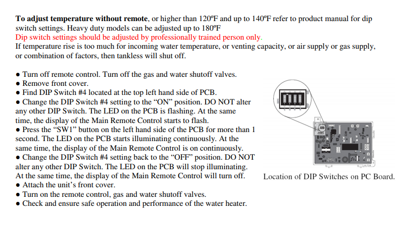i am trying to adjust my rheem water temperature. we accidentally
