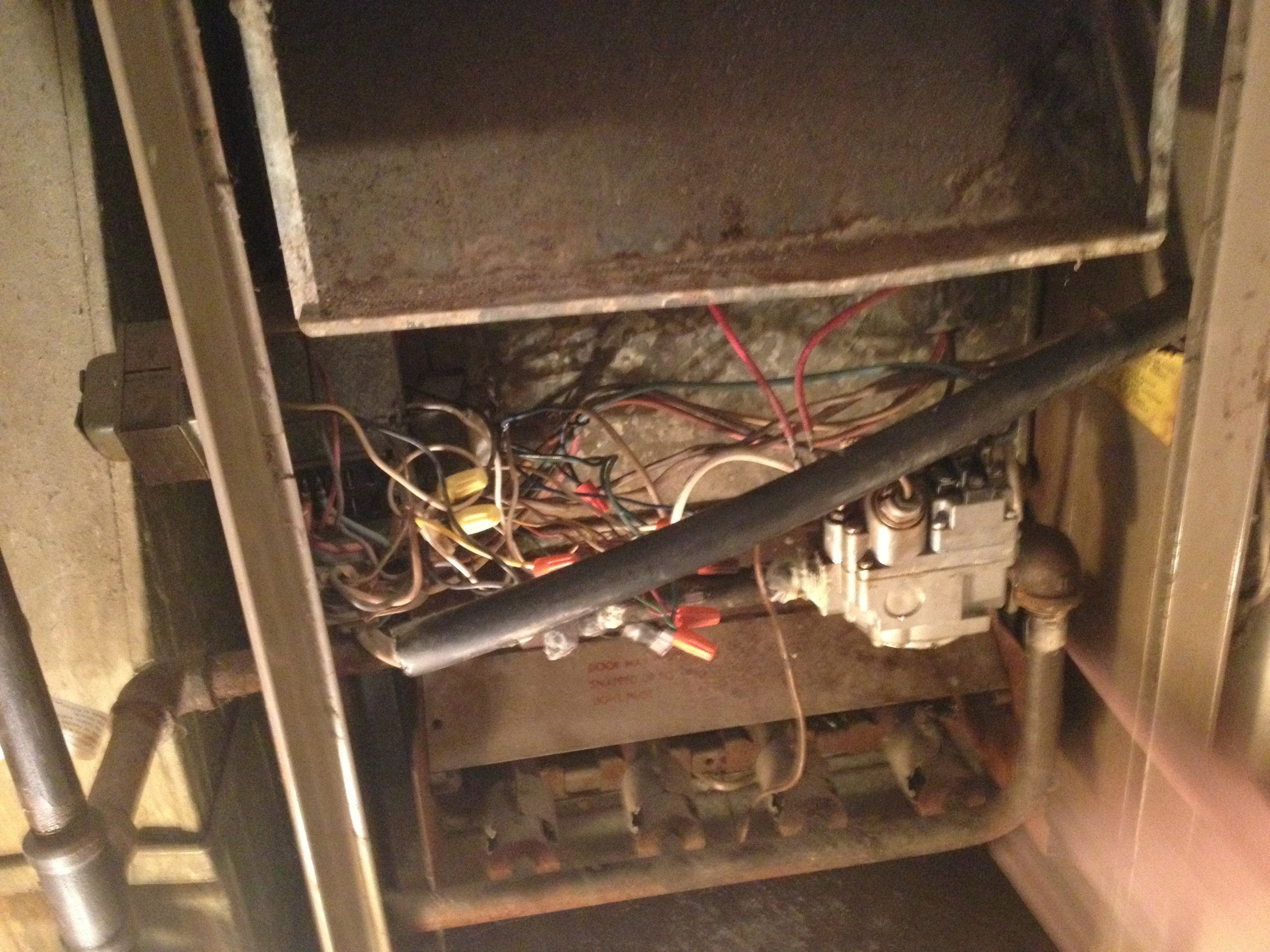 General electric furnace model bglu doesn't work. We replace the gas valve  and the thermostat and it still doesn't   Ge Gas Furnace Wiring      JustAnswer
