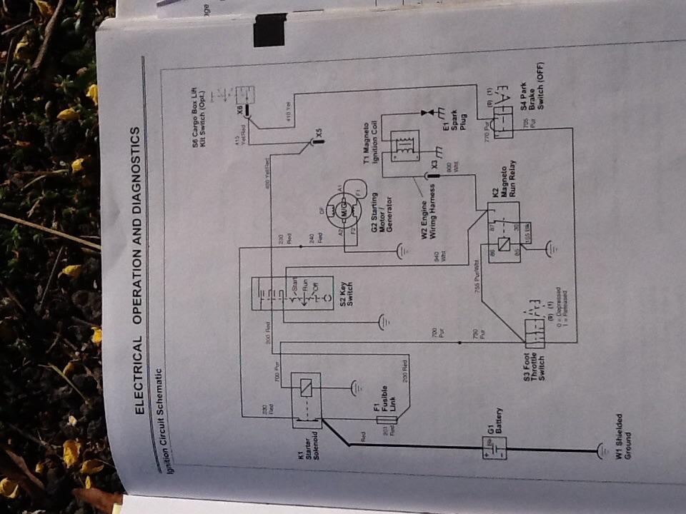 Deere Gator, 4x2, Kawasaki FE290  Should the voltage at the