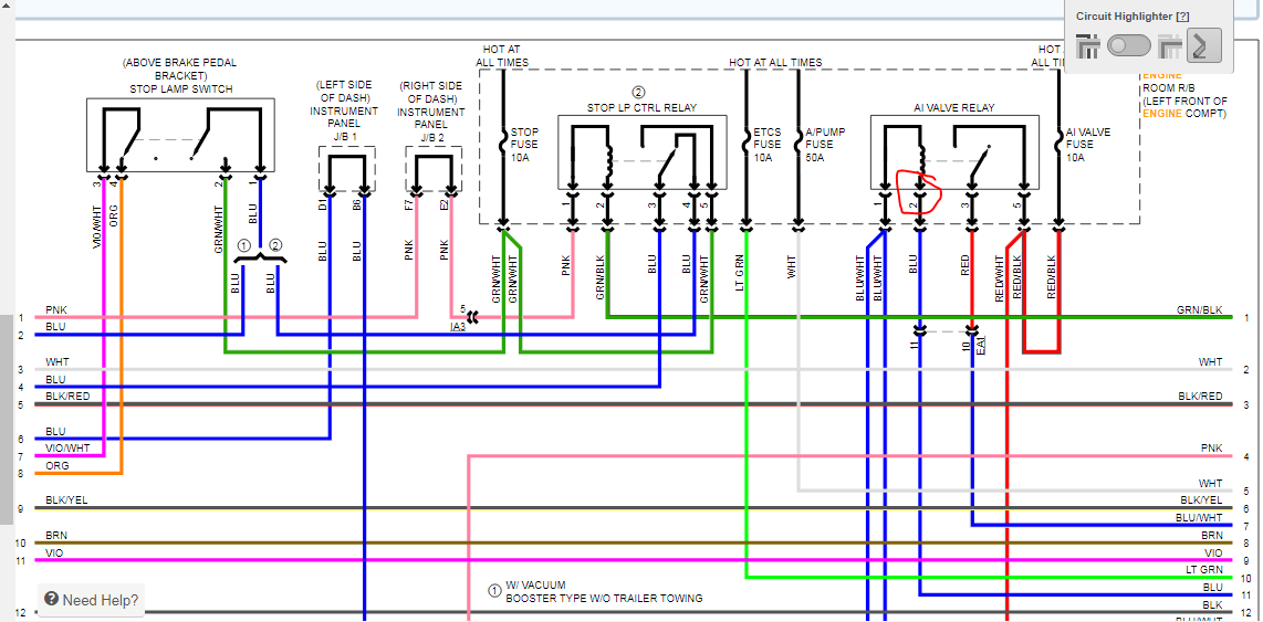 2013 Toyota Tacoma Wiring Diagram For The Motor