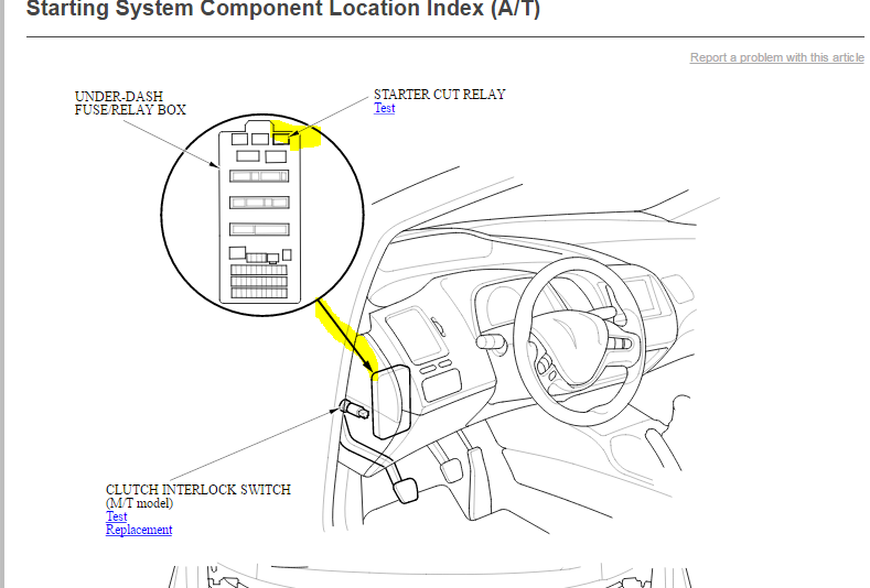 where is the starter relay on a 2009 honda civic  100 u0026 39 000