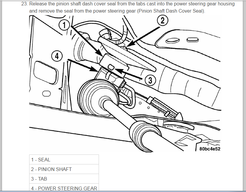 2004 Pt Cruiser Power Steering Rack Instructions Does Anyone Have