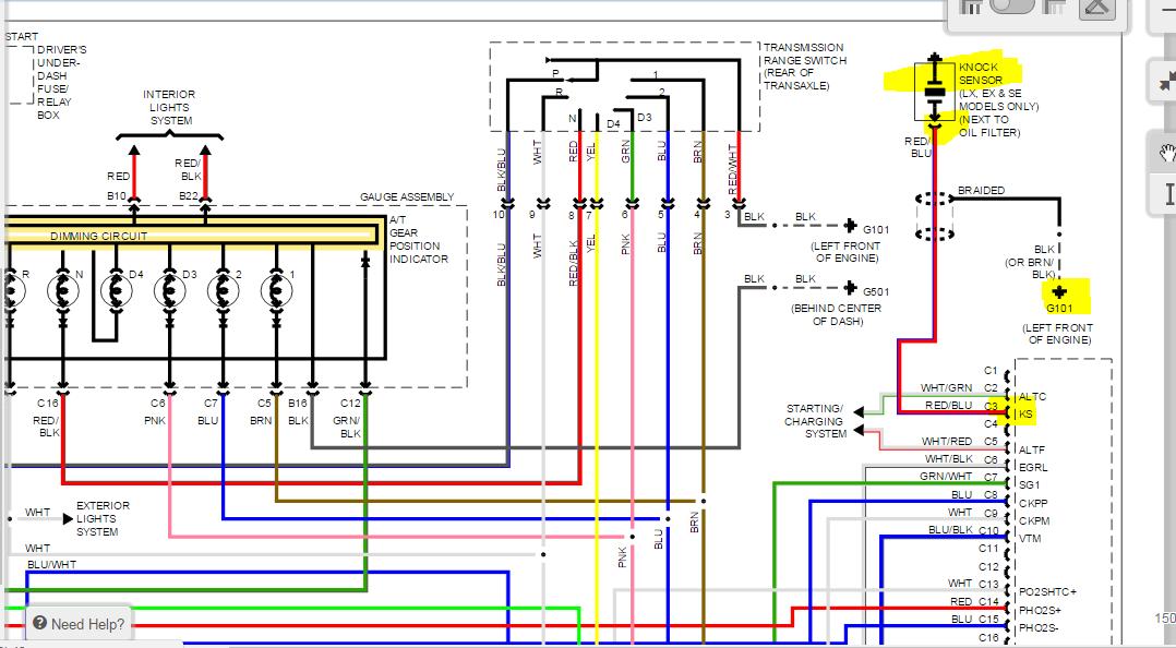 2002 Honda Accord EX 2.3l code P1457 evap system leak ...