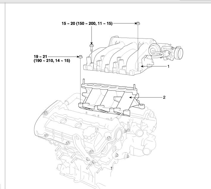 2004 Kia Rio Removingvalvesthe Intake Manifold Diagrams