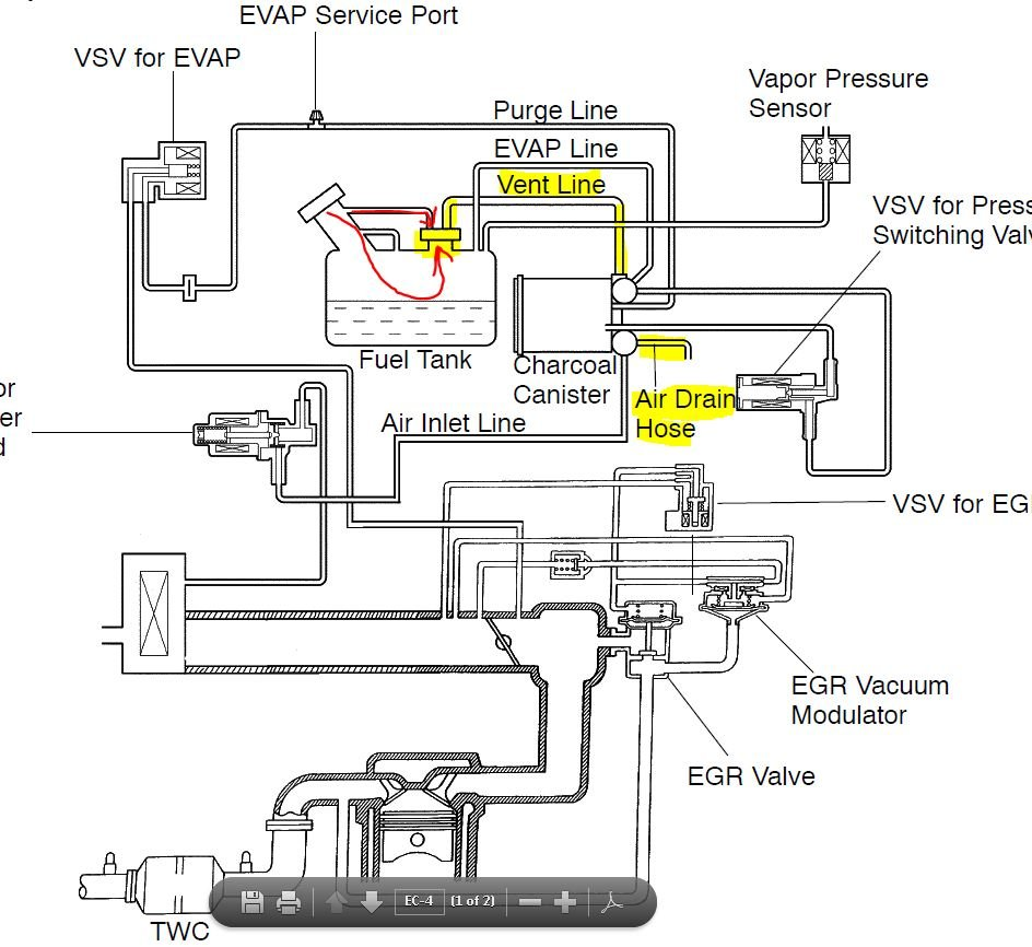 2002 Toyota Tacoma Tail Light Wiring Harness Electrical Trailer Diagram For 2013 I Have A And When Fill It With Gas The Pump