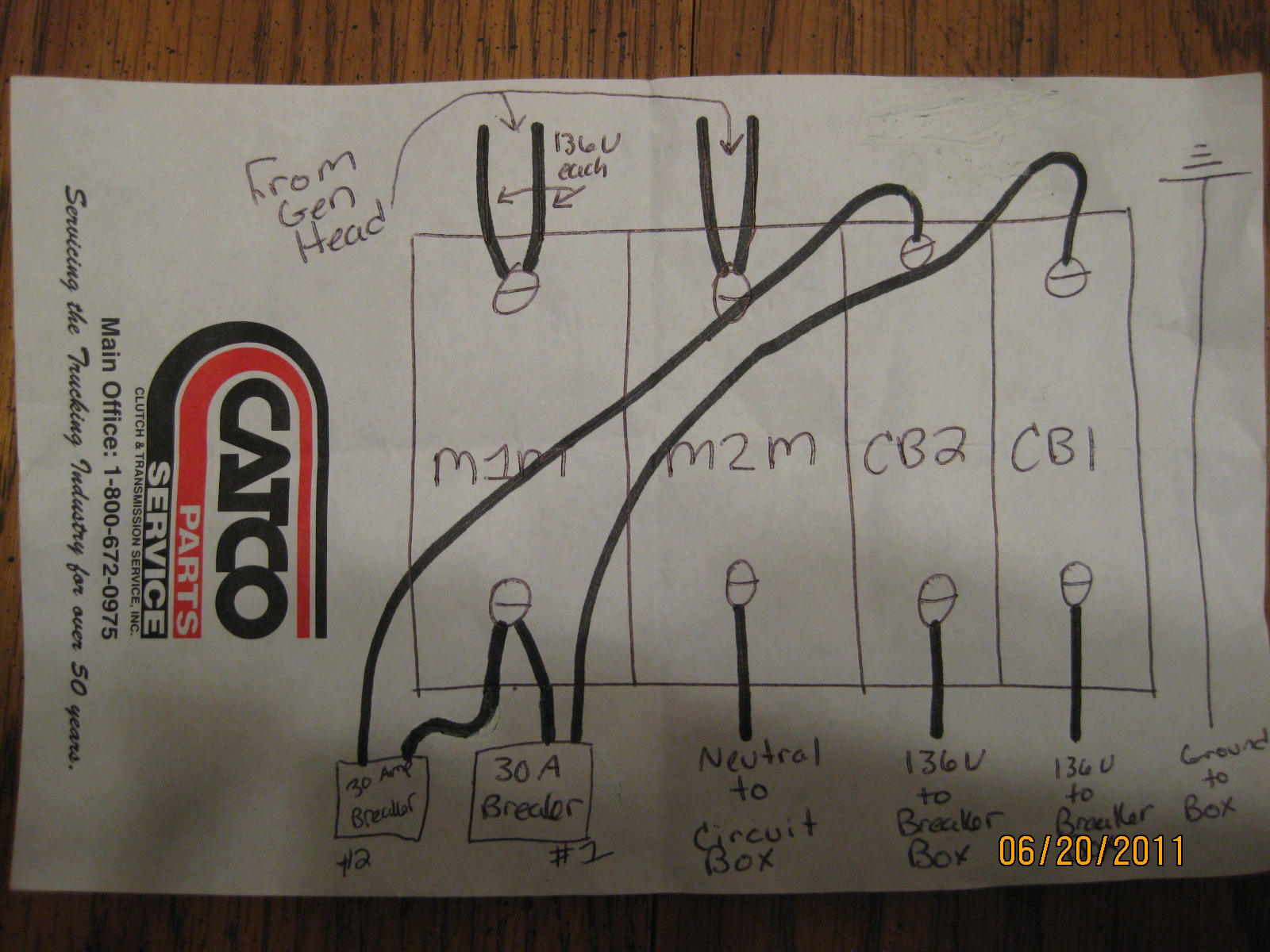 Hiw Do I Wire A Circuit Breaker Box Into Onan 65kw 120 240 Rv 30 Wiring Diagram Updated