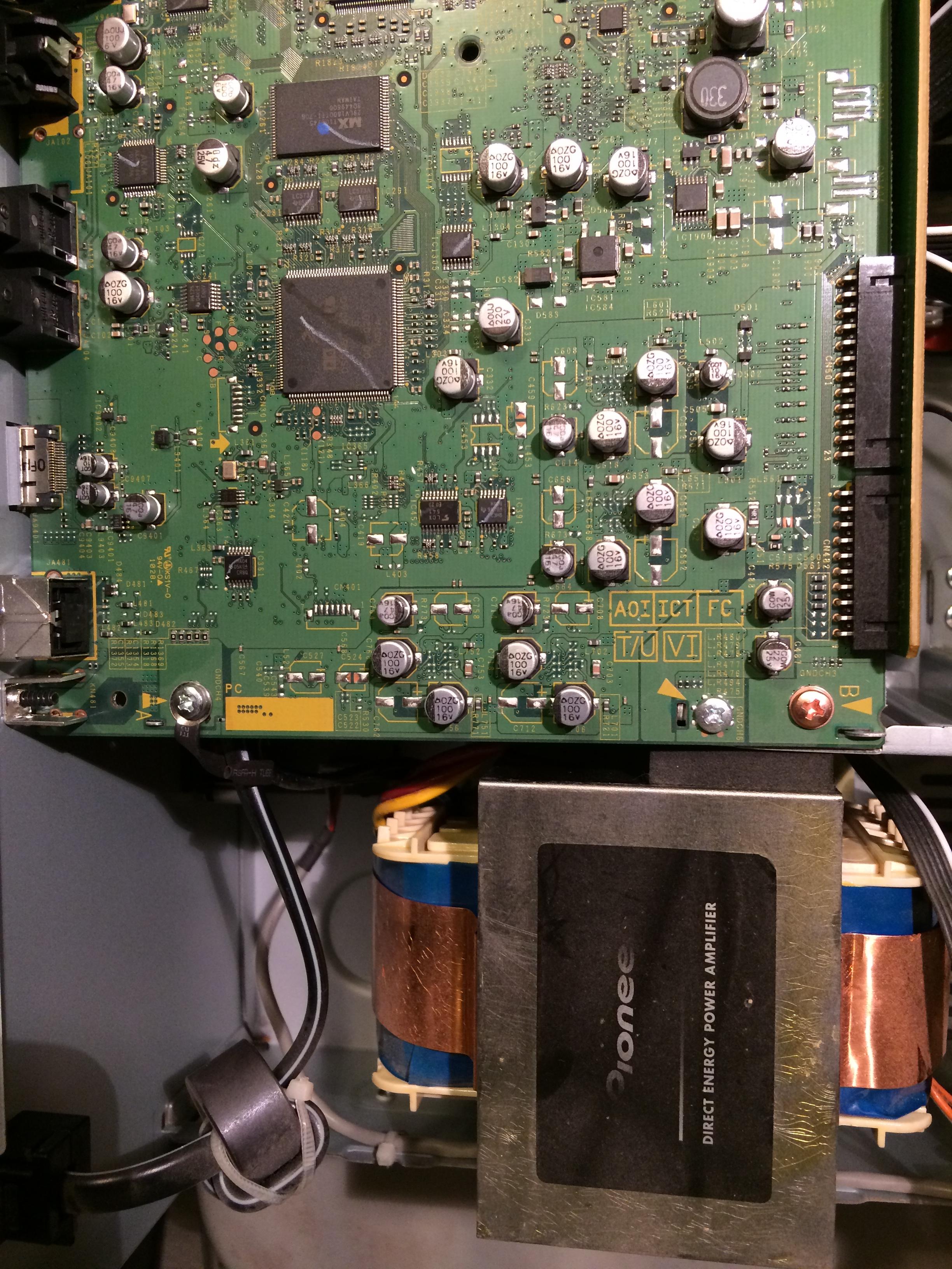 Pioneer VSX-925 Flashing PQLS Light