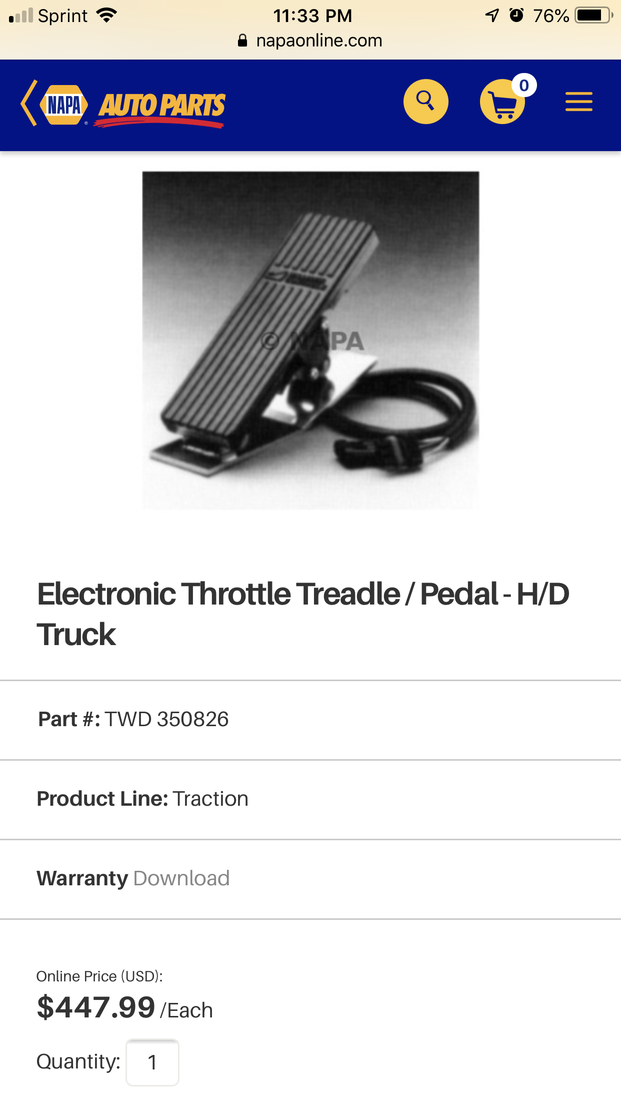 Need a new foot throttle pedal for 93 KW N14 replaced the