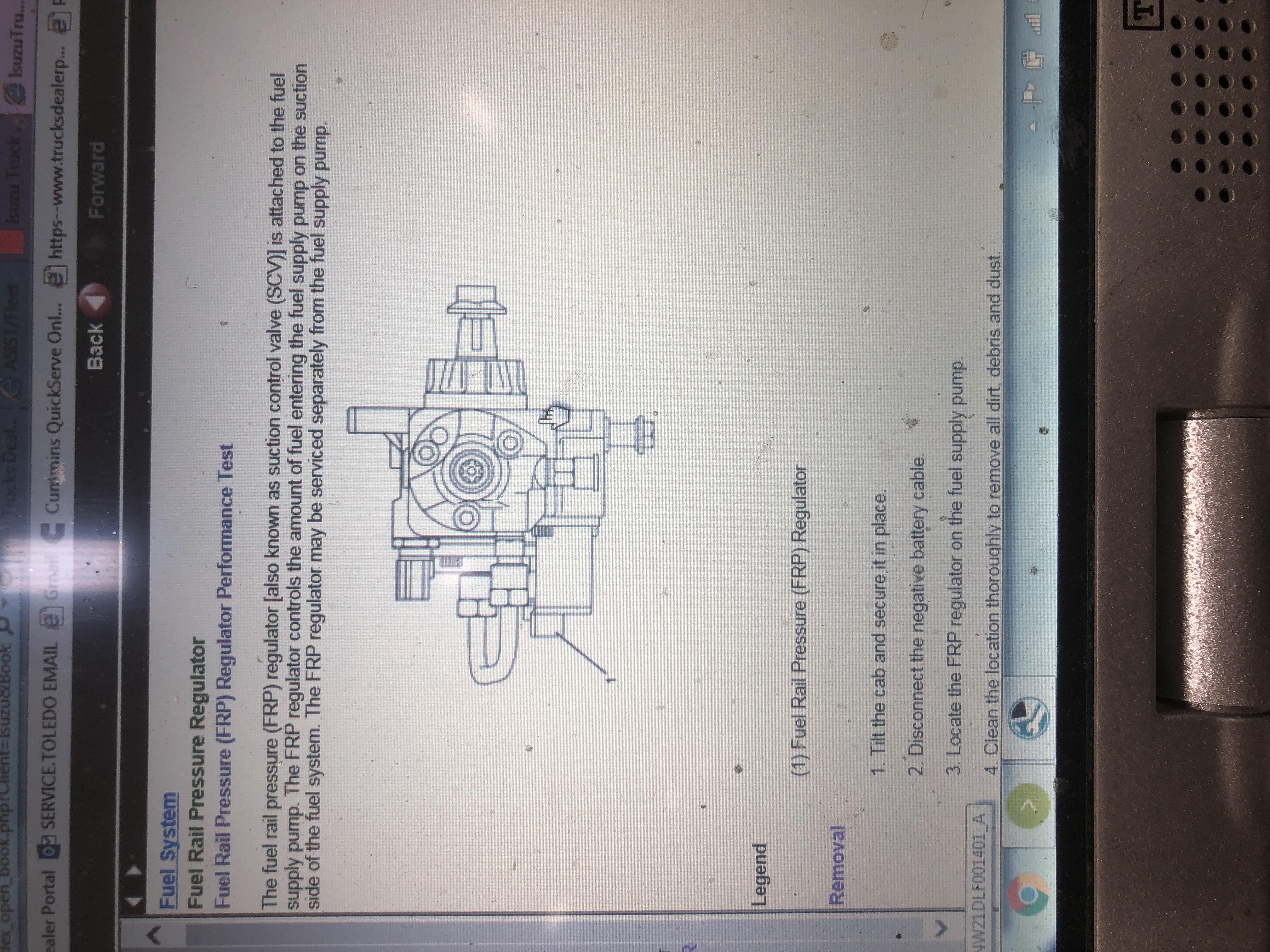 I have a 2007 npr that throws a high fuel rail pressure code