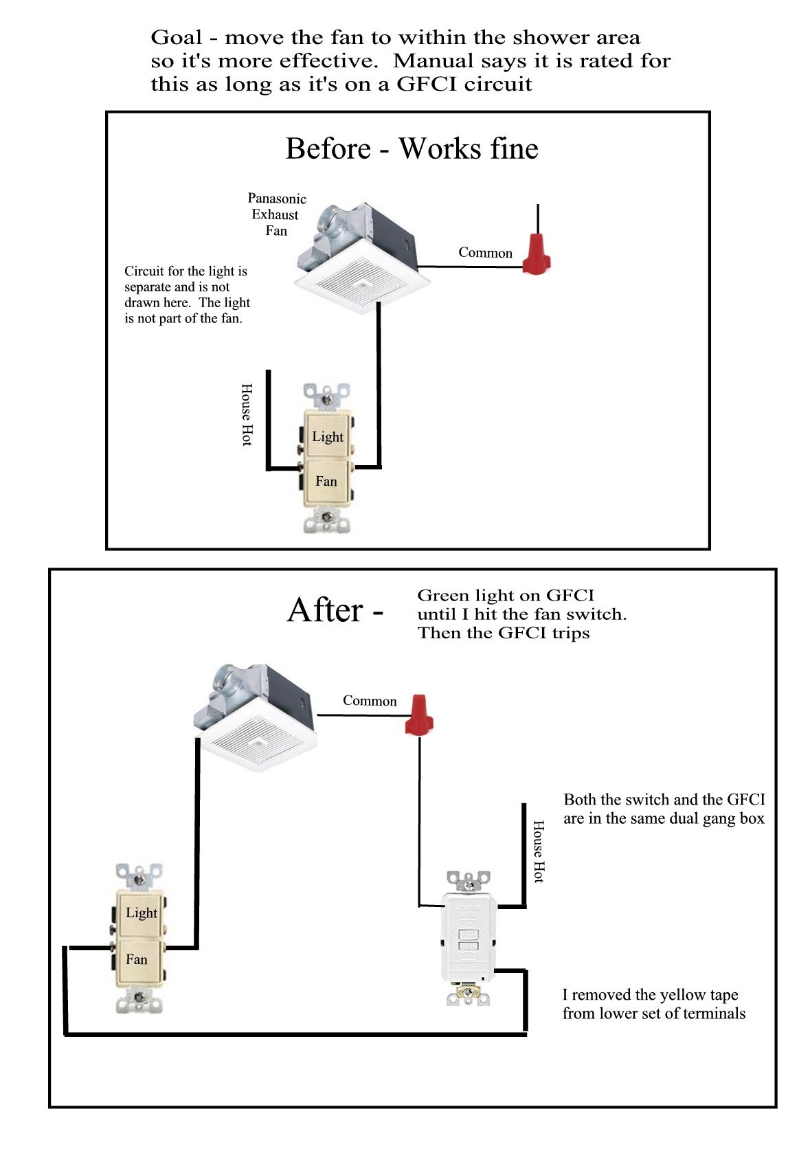 Gfci Wiring Exhaust Fan | Wiring Diagram on
