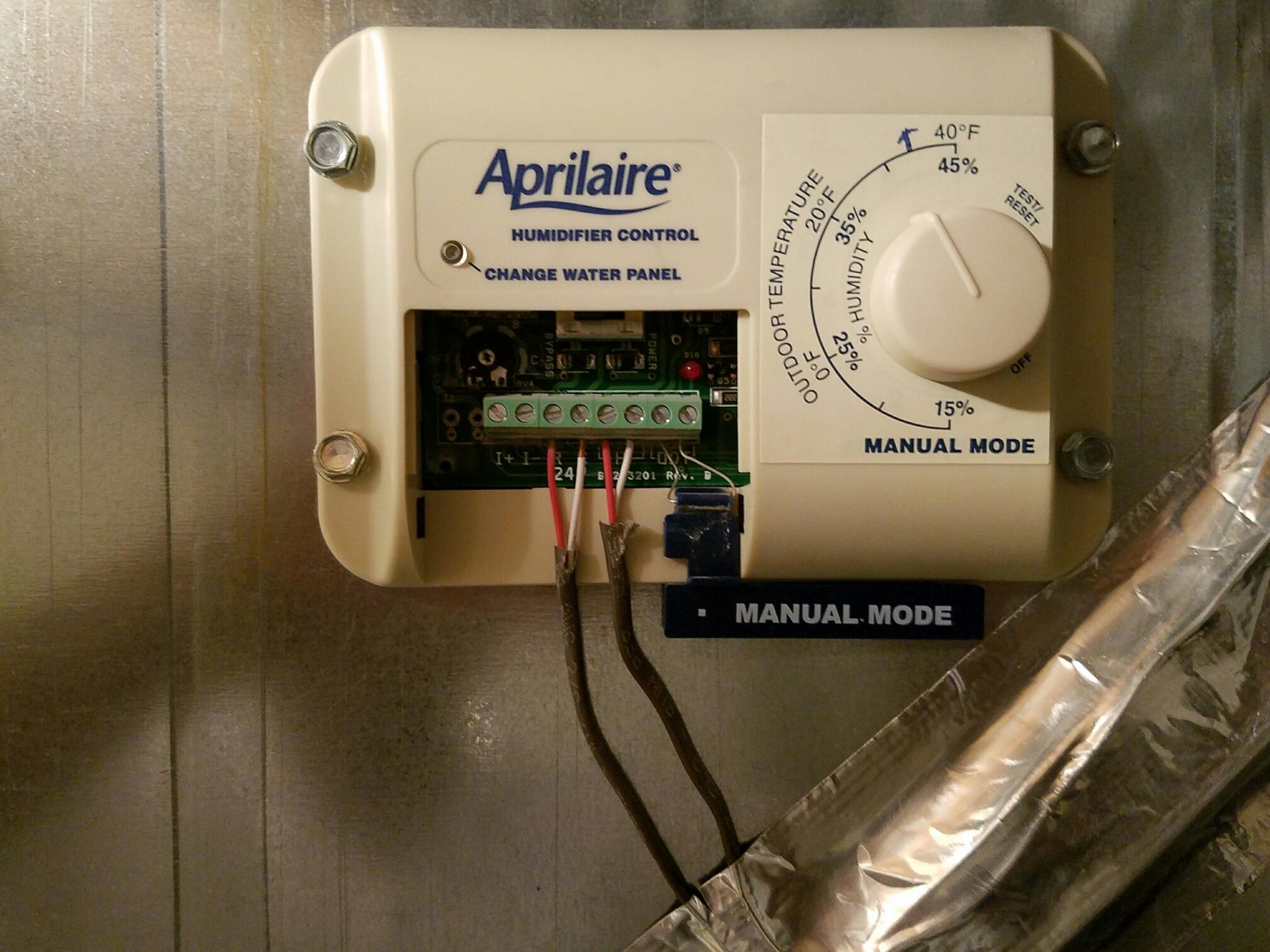 I Have An Aprilaire Model 56 Auto Trac Humidistat W