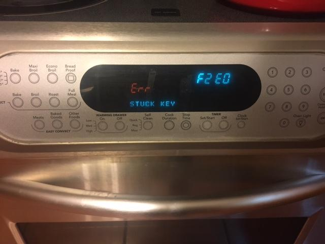 I have a kitchenaid convection oven showing