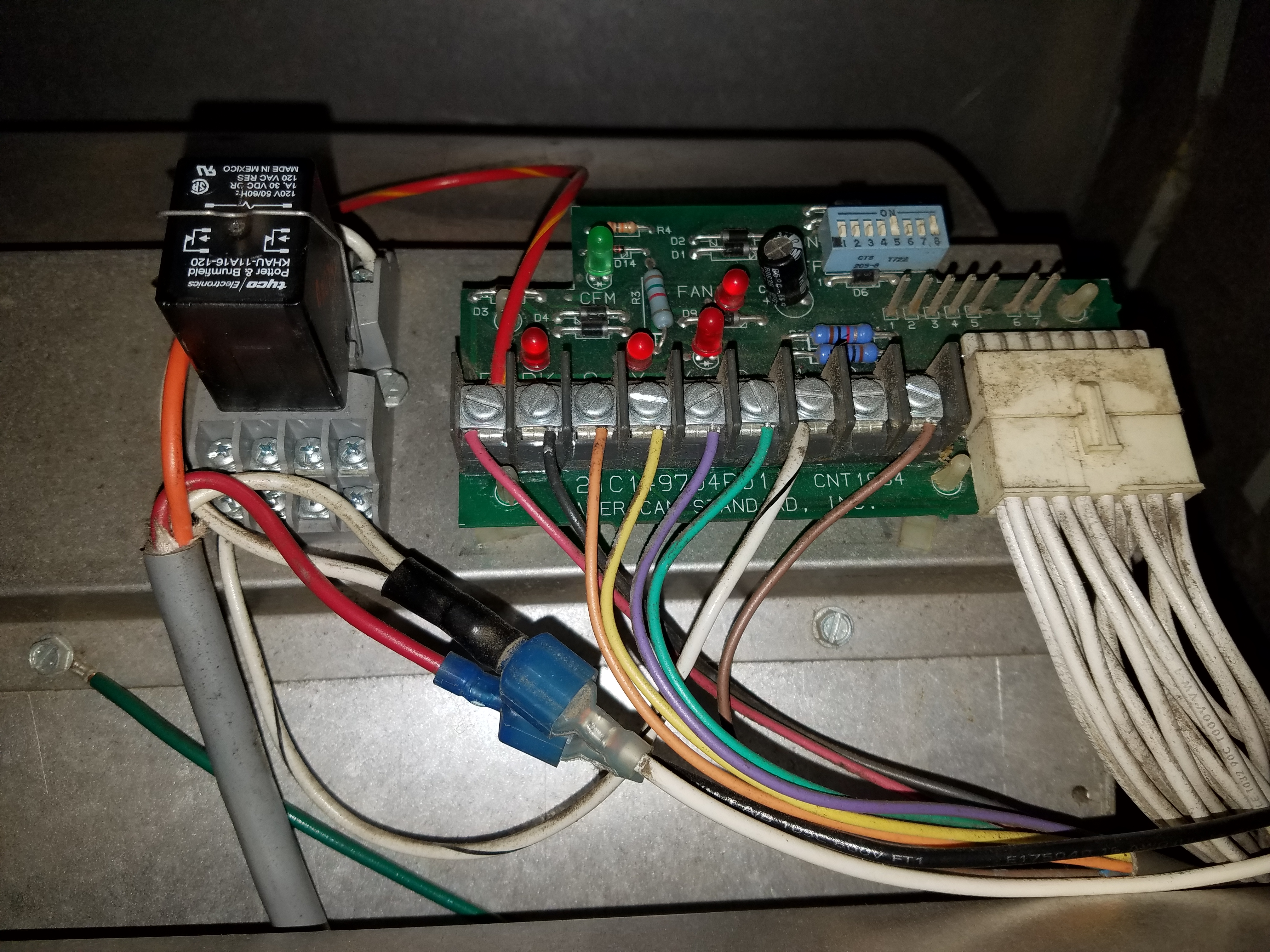 Have An Xv80 Trane Heater With No Power To The Thermostat Or Furnace. Wiring. Hunter 5 Wire Thermostat Diagram 40135 At Scoala.co