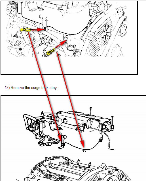 2006 Hyundai Tucson 2 7 I Want To Get The Intake Manifold Off To Replace The Rear Spark Plugs And Wires Front Bolts
