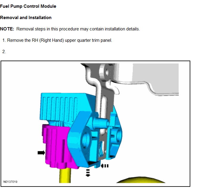 Where is the fuel pump relay module on 2013 Lincoln MKT? How