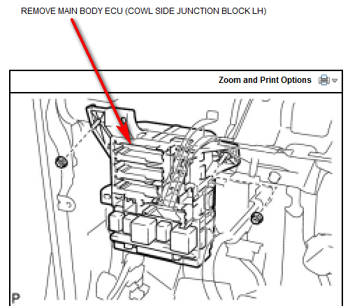 Trying To Locate My Power Door Lock Relay In My 2011 Toyota Camry Se