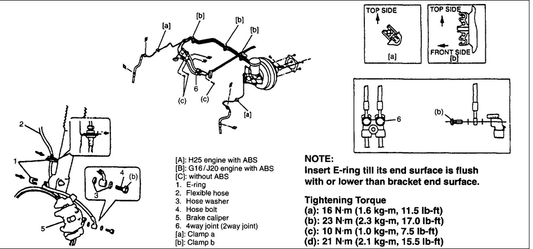 2002 Chevy Tracker Rear Brake Diagram