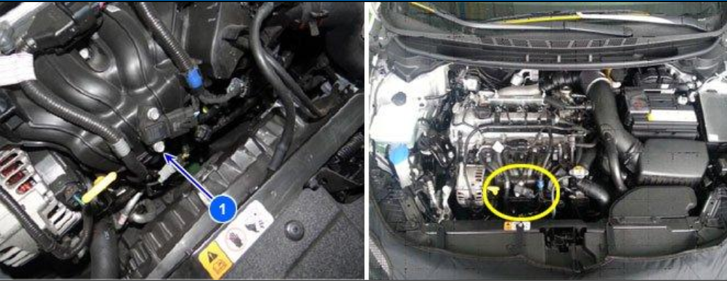 With the 15 Kia Forte 1 6 Engine Size where can the intake