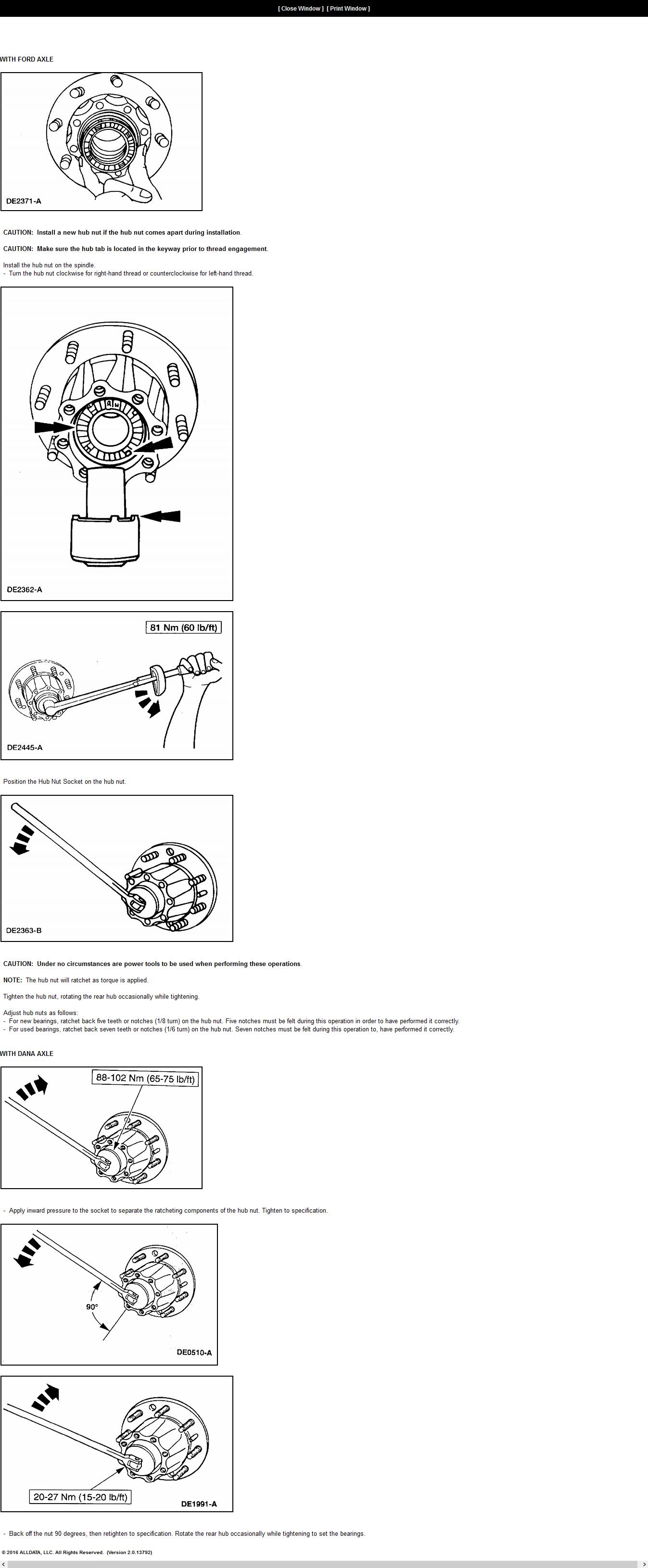 Ford Focus Control Arm Torque Specs