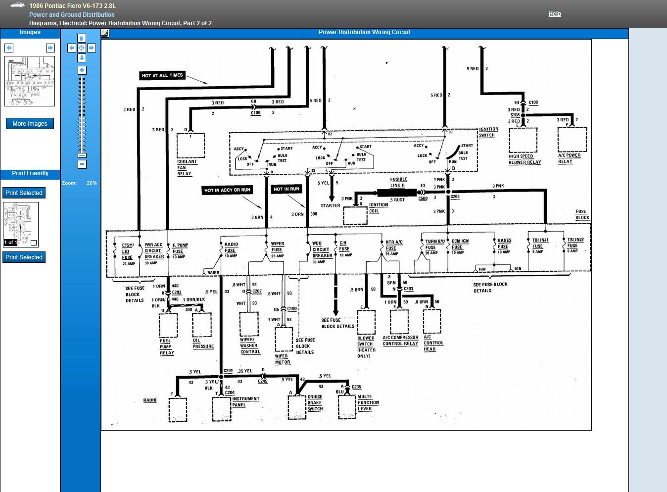 1986 Pontiac Fiero Wiring Schematic - Wiring Diagram Schema