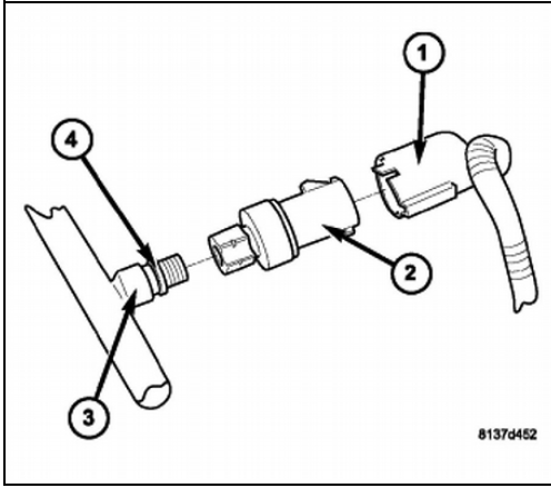 2007 Chrysler Sebring Where Is The Low Pressure Switch Located