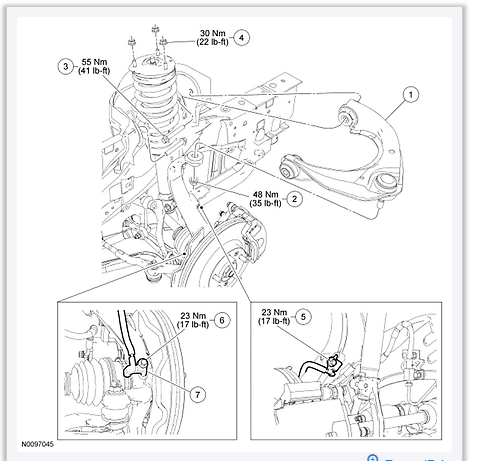 I can't find the torque specifications I need for a 2010 ford fusion