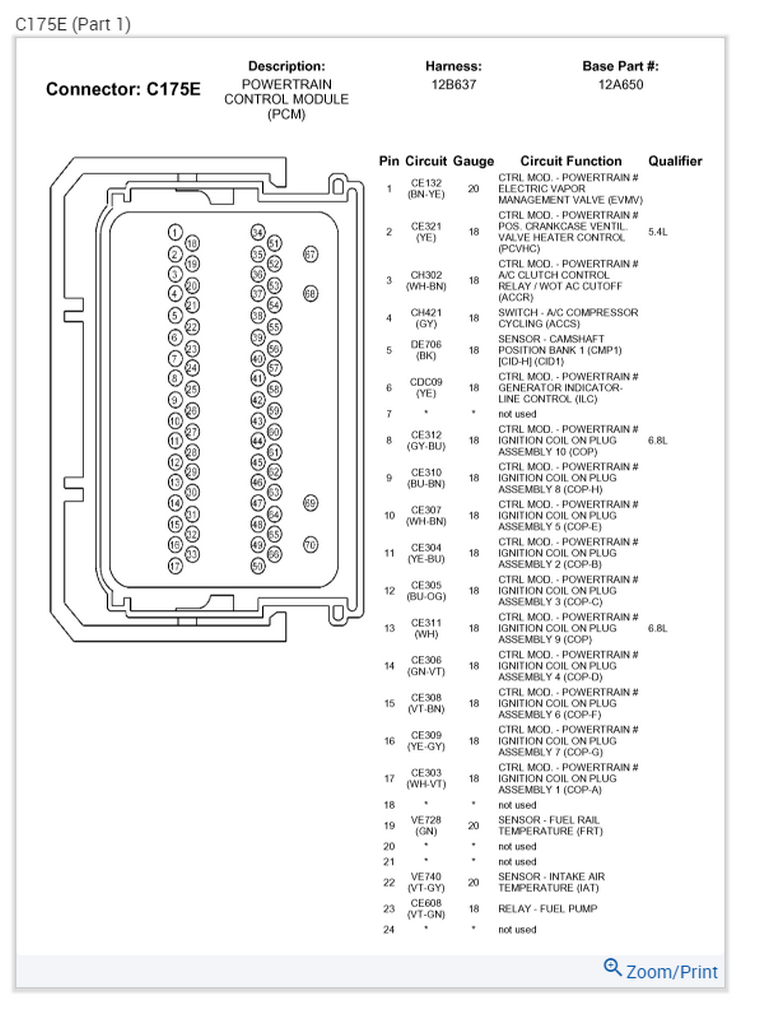 [FPER_4992]  I'm looking for the PCM pinout for a 2008 F250 Super Duty 5.4l gas engine   Ford V10 Pcm Wiring Diagram      JustAnswer