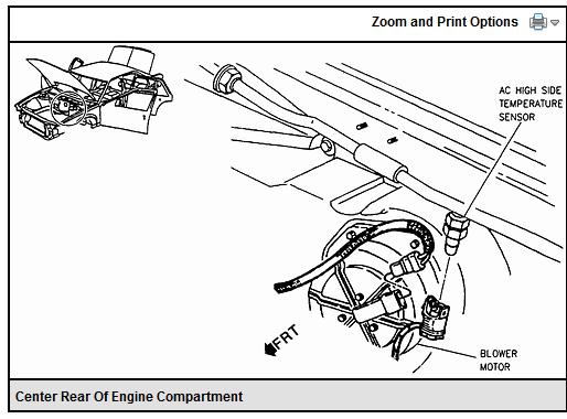 Where is evaporator inlet temp sensor on this car?