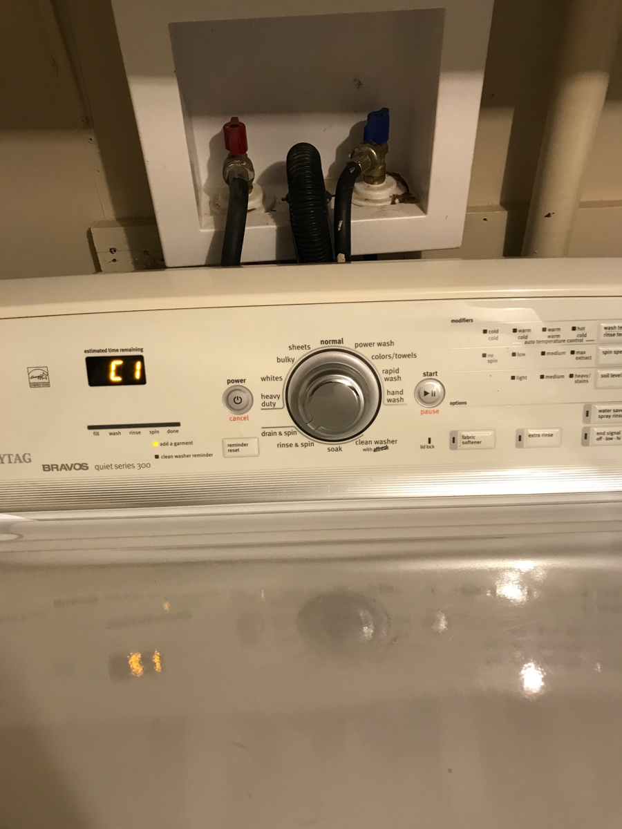 My Maytag Bravos 300 Top Load Washing Machine Model Mvwb450wq2 Has A Ol Code Drains Etc But Will Not Complete A Washing