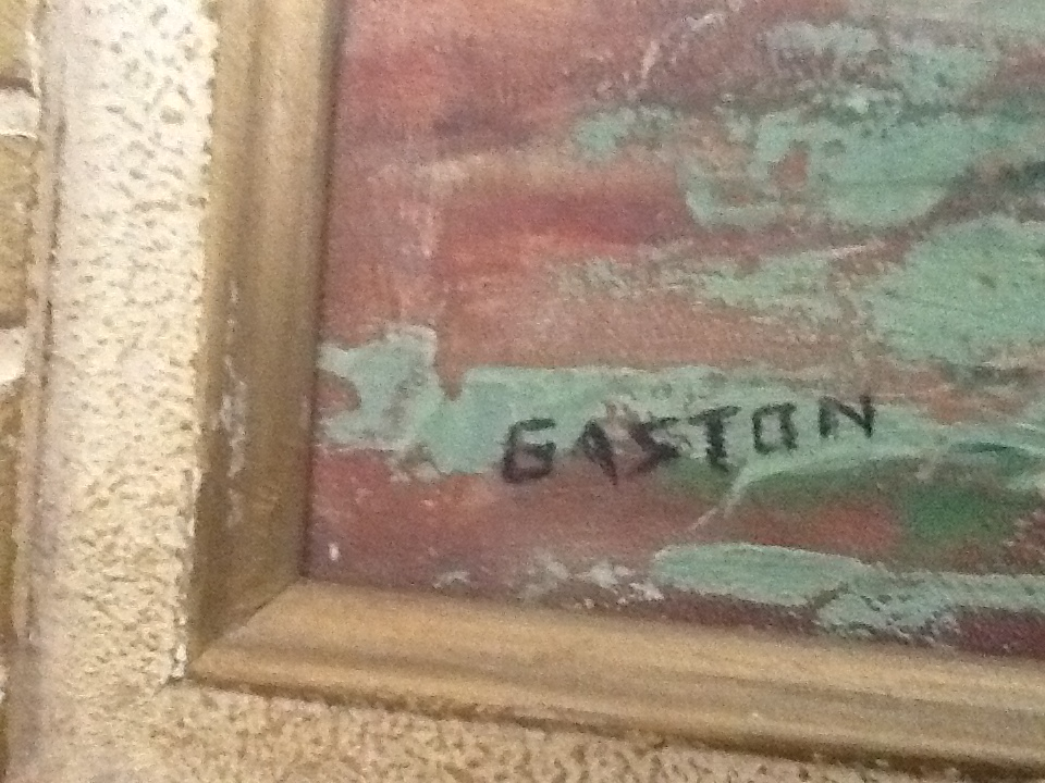 I Have An Oil Painting Signed Gaston On The Left Lower