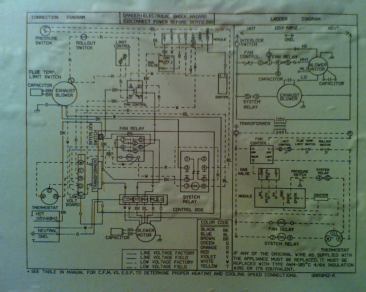 Heil 7000 Wiring Diagram Schematics I Have A Tempstar High Efficiency Furnace When The Panasonic