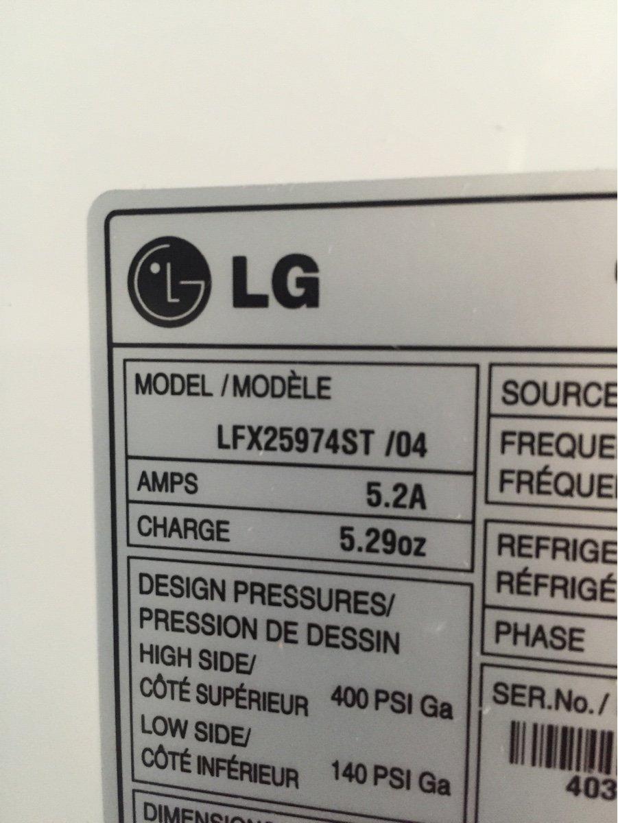 LFX25974ST /04  Refrigerator LG  No cooling and led inside light