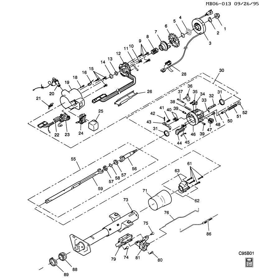 1962 chevrolet steering column diagram
