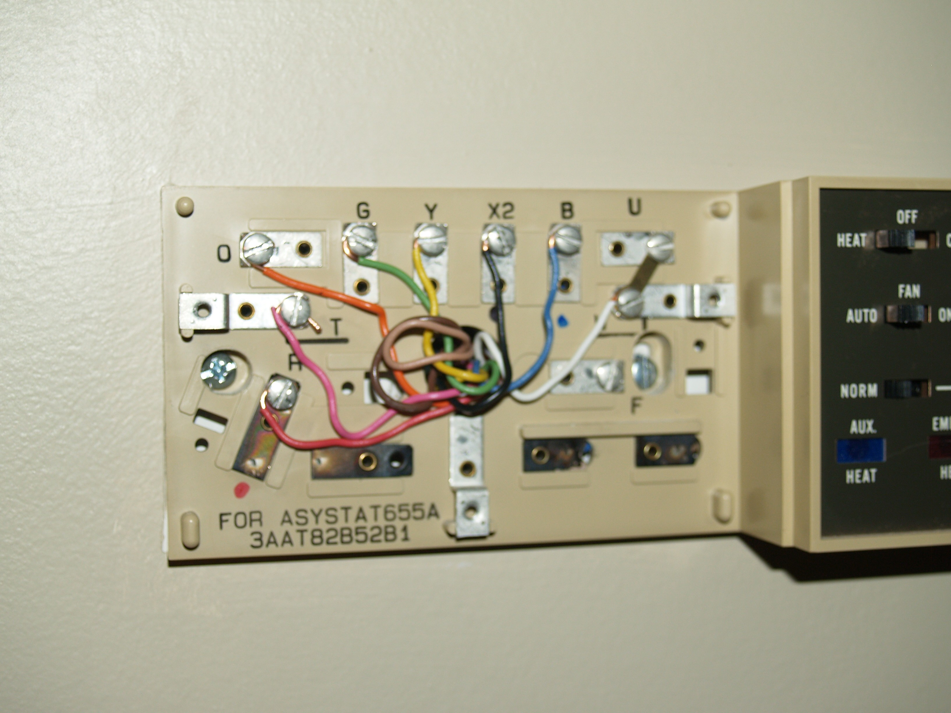 I Have A Honeywell Thermostat Asystat655a And I Want To Replace It With A New Honeywell Vision