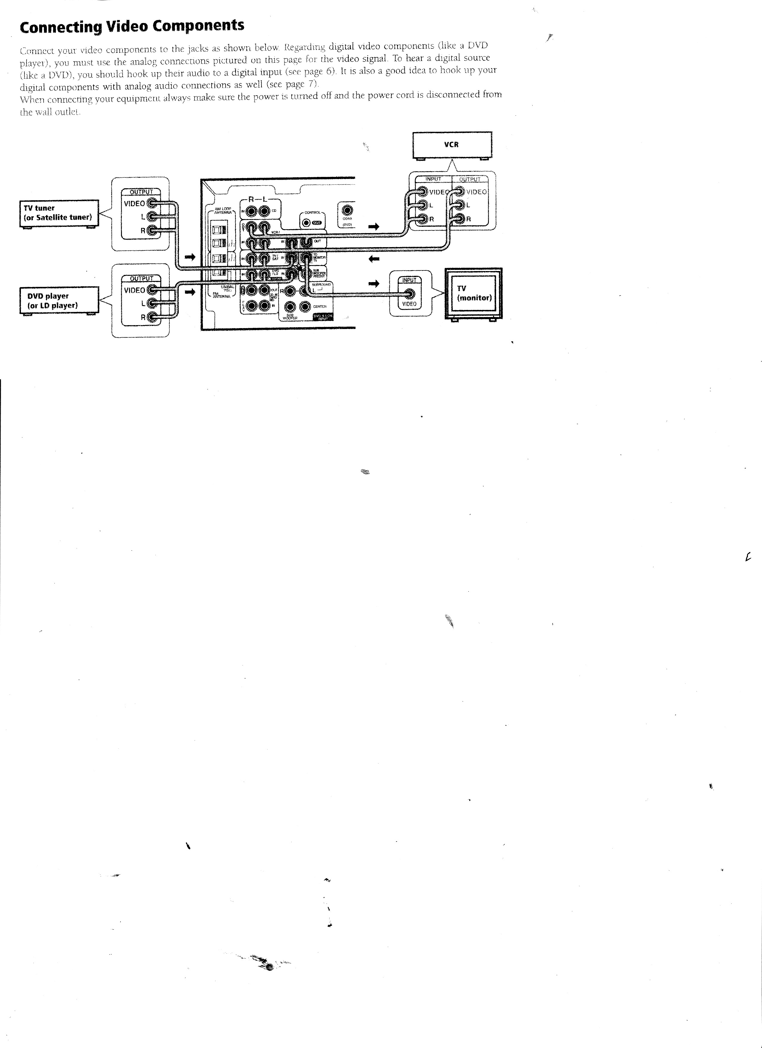 Can You Provide A Diagram Of How To Hook Up An Rca Audio Video Logitech X 530 Wiring Graphic