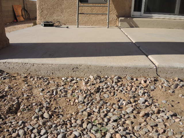 When Adding A 10 X15 4 Quot Patio Slab Adjacent To An
