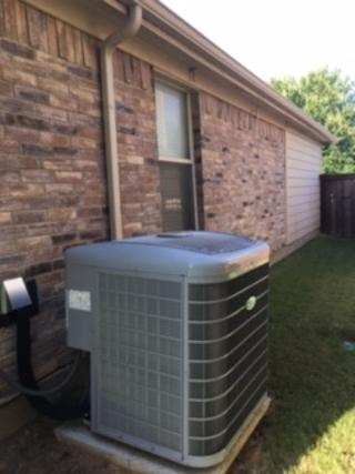 I have noticed water dripping from an AC drain pipe on the