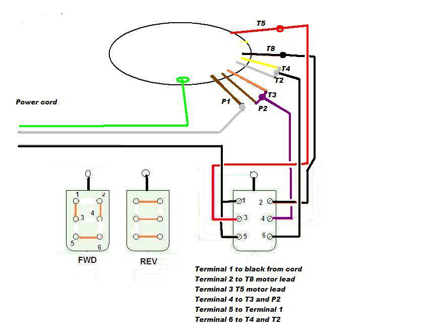 I Saw Your Info For Wiring A Drum Switch For 220v  Could You Please Post A Schematic For For
