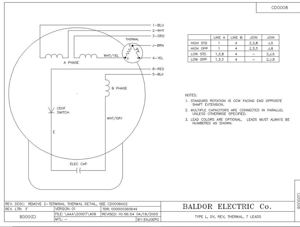 we have a baldor reliance indust. motor cat no. 84z04007. we need to  convert from 115v. to 208v. but does not have a  justanswer