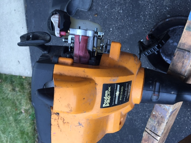 Trying to route lines on a Poulan PP330 string trimmer