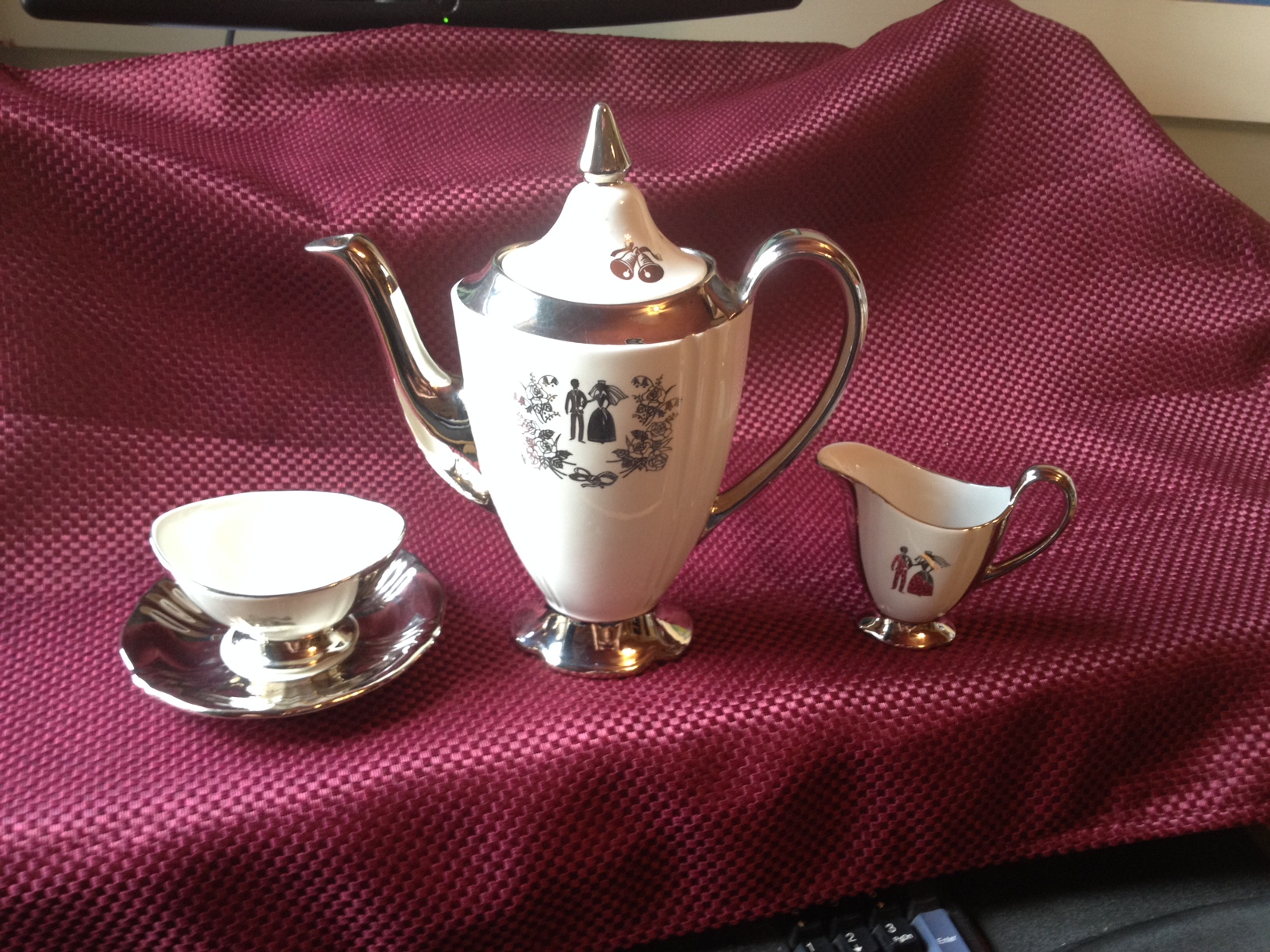 Royal Winton Our Wedding Tea Set.JPG