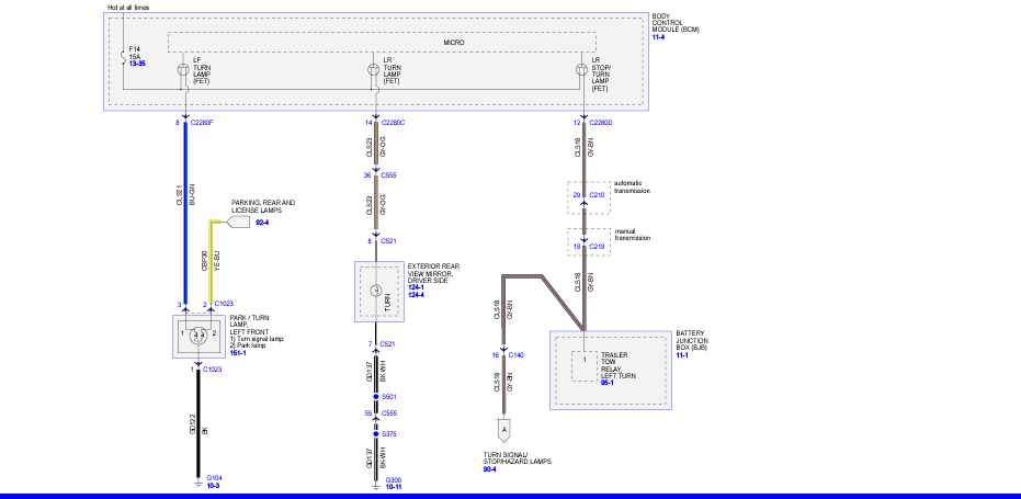2012 ford f350 turn signal wiring diagram 2011 f250 left brake light and turn signal not working the front  2011 f250 left brake light and turn